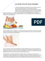 veinticinco Ideas Para Perder Peso De Forma Saludable