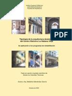 Tipología de la arquitectura doméstica delCentro Histórico LaHabana Vieja