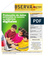Protección de datos personales de menores en entornos digitales