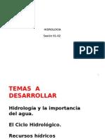 CLASE 01 Ciclo Hidrológico_Hidrología