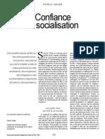 Confiance Et Socialisation