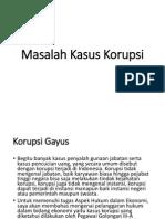 Masalah Kasus Korupsi