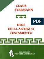 Dios en El Antiguo Testamento - Claus Westermann