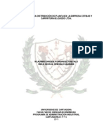 Diseño de Una Distribución de Planta en La Empresa Estibas y Carpinteria Elguedo Ltda.