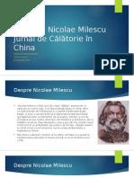 Spătarul Nicolae Milescu Jurnal de Călătorie În China
