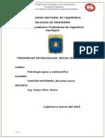 Petrologia Ignea Del Perú