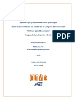 Informe Integrado Camp Buen Trato - Uruguay