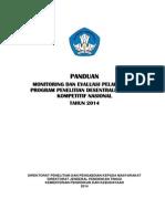 Panduan Monev Penelitian Tahun 2014-1