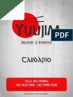 Cardápio - Yuujim Delivery - 3027-1993