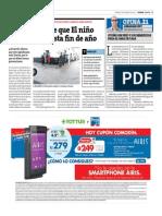 18-04-2015 - Peru21 - Existe El Riesgo de Que El Niño Se Extienda Hasta Fin de Año