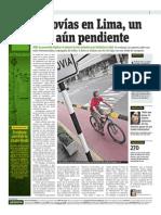 17-04-2015 - Publimetro - Ciclovías Reto Pendiente en Lima