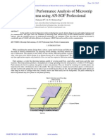 Simulation and Performance Analysis of Microstrip