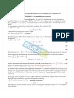 Soluzioni simulazione  seconda prova liceo scientifico 25 Feb