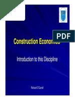 Construction Economics Intro