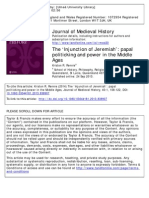 Journal of Medieval History Volume 40 Issue 1 2014 [Doi 10.1080%2F03044181.2013.838907] Rennie, Kriston R. -- The 'Injunction of Jeremiah'- Papal Politicking and Power in the Middle Ages