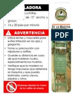Ficha Técnica de Maquinaria Transformacion de La Madera