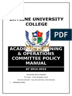 APOCHOA PolicyManual 7APRIL2015 Updated Dr Riktesh