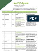 Spring PLC Agenda