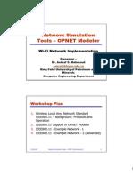 Wifi Modeling in Op Net