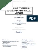 MECH206 - 2014-15 SPRING - L05 - Shearing Stresses in Beams