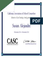 susan alejandre electronic certificate