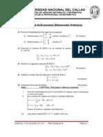 Ejercicios de Ecuaciones Diferenciales Ordinarias