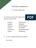 Esercitazione Fonetica e Fonologia Nr. 2