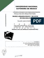 Museo Arqueologico y de Sitio en Malinalco Tesis de Arquitectura