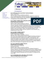 merced college - electricity - electronics course descriptions