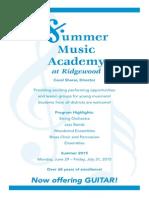 Summer Music Academy 2015