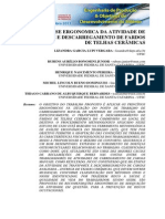 ANÁLISE ERGONÔMICA DA ATIVIDADE DE TRANSPORTE E DESCARREGAMENTO DE FARDOS DE TELHAS CERÂMICAS