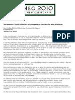Sacramento County's District Attorney Makes The Case For Meg Whitman