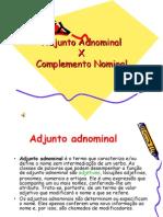 Adjunto Adnominal/Complemento Nominal