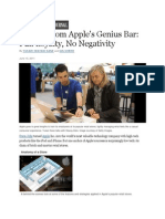 Secrets From Apples Genius Bar - Full Loyalty No Negativity