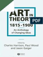 Scurte Articole - Art in Theory 1815-1900