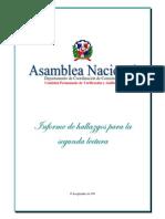 Informe de la Comisión de Verificación y Auditoría