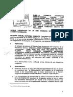 RENNÁN ESPINOZA PRESENTÓ DENUNCIA CONSTITUCIONAL CONTRA FUJIMORISTAS QUE VIAJARON A MITIN PARTIDARIO CON PLATA DEL ESTADO