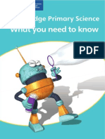 Cambridge Primary Science What You Need to Know Booklet