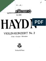 Haydn Joseph_Violin concerto in G