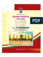 Pondicherry CM Budget 2015