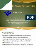 Imposto de Renda Pessoa Fisica CRC 2015