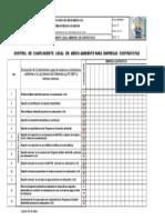 SIG-R-050 Cumplimiento Legal Ambiental Para Contratistas