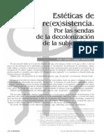 Estéticas de re(ex)sistencia. Por las sendas de la decolonización de la subjetividad