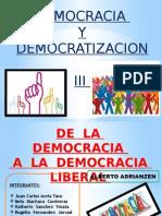 democracia y democratizacion lberal
