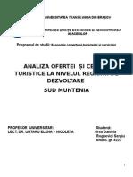 Economia Turismului Sud Muntenia