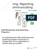 Monitoring Reporting and Communicating