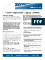 fact sheet child speech lang disorder