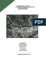 Informe Comunitario de Gestión de Riesgos El Rincón 2014