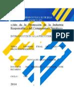 INFORME PSICOLOGICO SEMINARIO