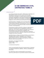 Curso de Derecho Civil Contratos Tomo II Dr Walter Kaune Ar